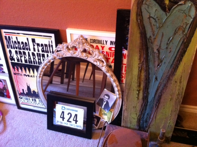 Some stuff waiting to get hung up...